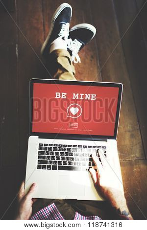 Be Mine Valantine Romance Heart Love Passion Concept