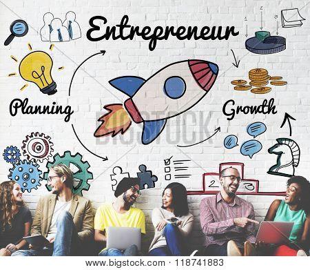 Entrepreneur Enterprise Dealer Planning Growth Concept