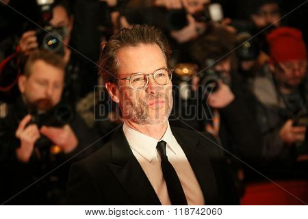 Guy Pearce attends the 'Genius' premiere during the 66th Berlinale International Film Festival Berlin at Berlinale Palace on February 16, 2016 in Berlin, Germany.