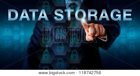 Database Manager Pushing Data Storage