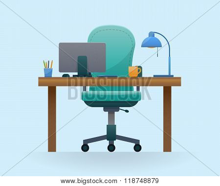 Workplace in office.