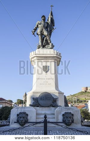 Statue Of Hernan Cortes, Medellin, Spain