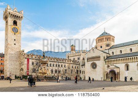 Dome Square In Trento.