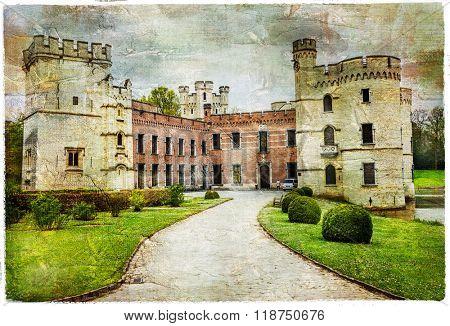 medieval castles of Belgium - Bouchot, artistic picture