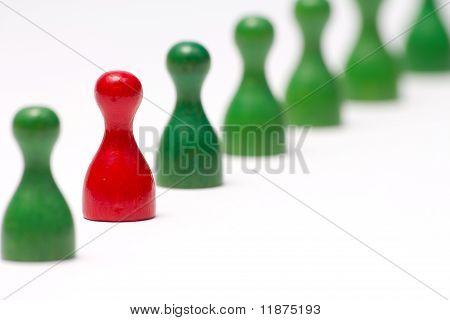 Indikatoren mit verschiedenen Farben