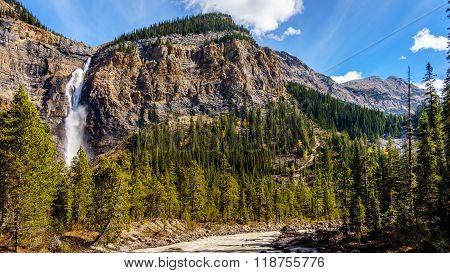 Takakkaw Falls in Yoho National Park in the Canadian Rockies