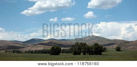 The foothills of the Rocky Mountains in southwestern Colorado make for good farming and ranch land. ** Note: Soft Focus at 100%, best at smaller sizes
