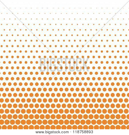 Cadmium orange polka dot on white background