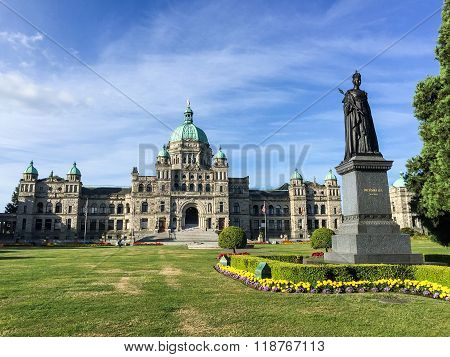 British Columbia Parliament Buildings In Victoria