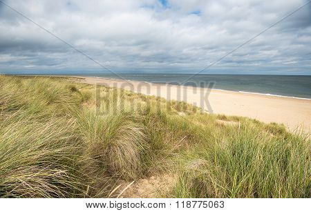 The North Sea At Winterton In Norfolk