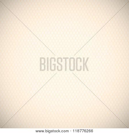 Ecru Paper Honeycomb Pattern Background