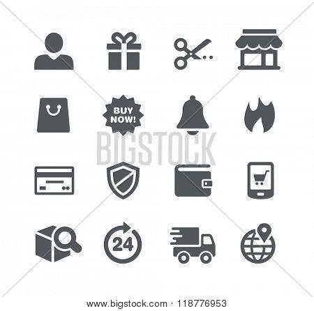 E-Shopping Icons // Utility Series