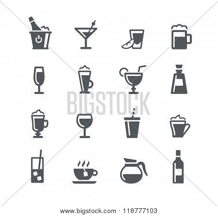 Drinks Icons // Utility Series