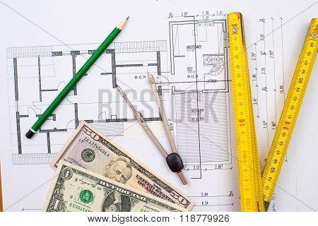 Building Plan With Money