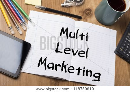 Multi Level Marketing Mlm - Note Pad With Text
