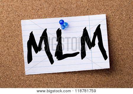 Mlm - Teared Note Paper Pinned On Bulletin Board