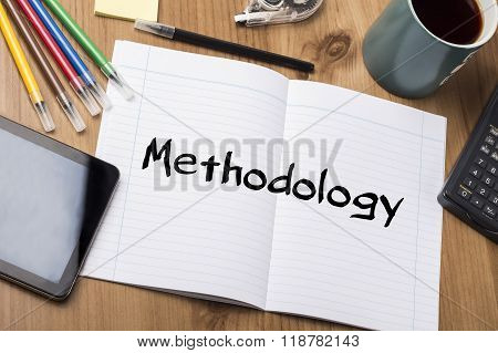 Methodology - Note Pad With Text