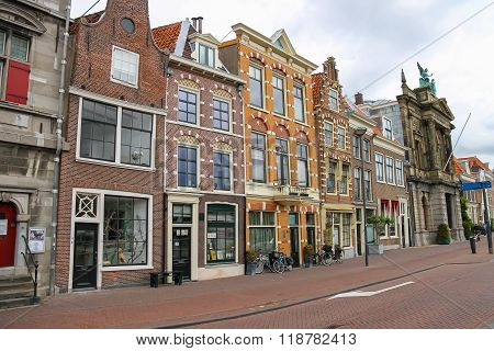 Old Buildings In The City Centre Of Haarlem, The Netherlands