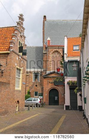 Waalse Kerk In The Historic Centre Of Haarlem, The Netherlands