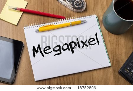 Megapixel - Note Pad With Text