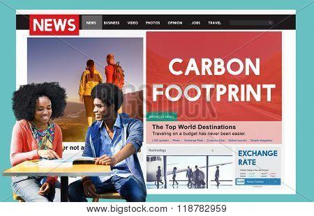 Carbon Footprint Environmental Conservation Concept