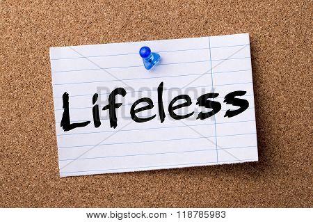Lifeless - Teared Note Paper Pinned On Bulletin Board