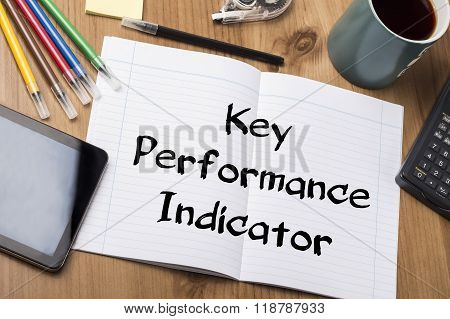 Key Performance Indicator Kpi - Note Pad With Text