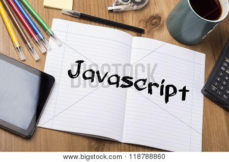 Javascript - Note Pad With Text