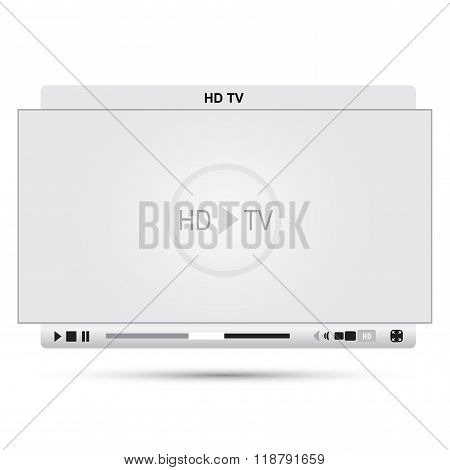 White Full Hd Player
