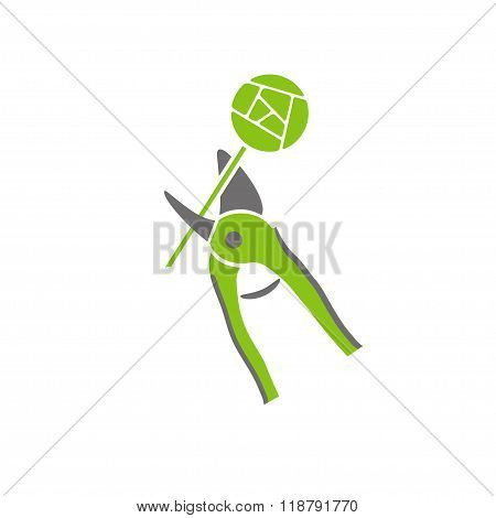 Pruner And Rose Garden Tools Company Logo