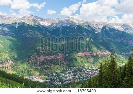 View Of Telluride From Mountain Village