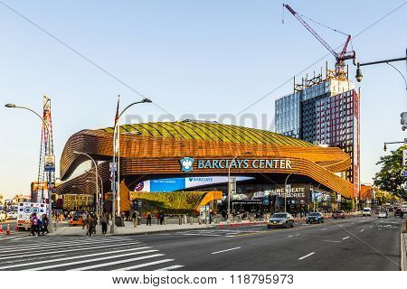 Barclays Center Is A Multi-purpose Indoor Arena In Brooklyn