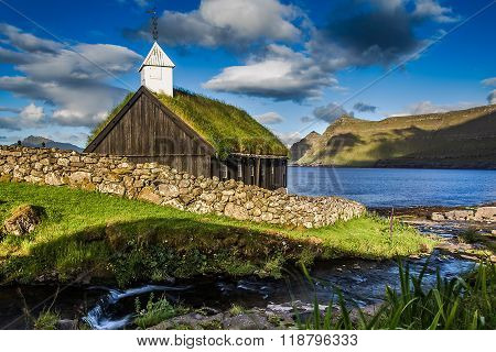 Church in Funningur, Faroe Islands