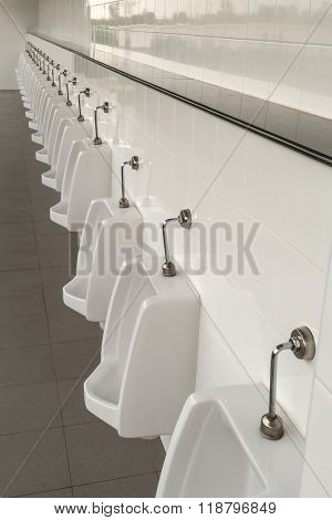 Urinals In The Mens Bathroom