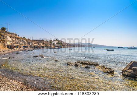 Seaside of Mediterranean sea on Crete island, Greece