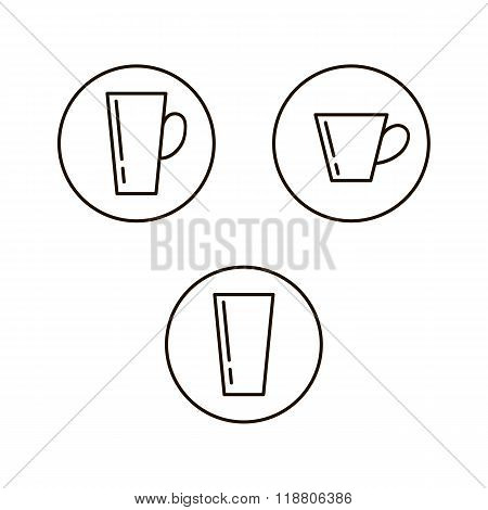 Cup drink icons