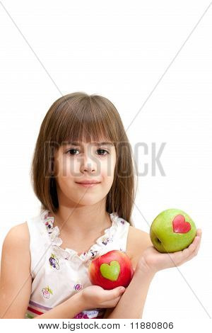 The Girl With Apples