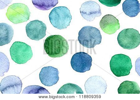 Abstract Blue And Green Blots