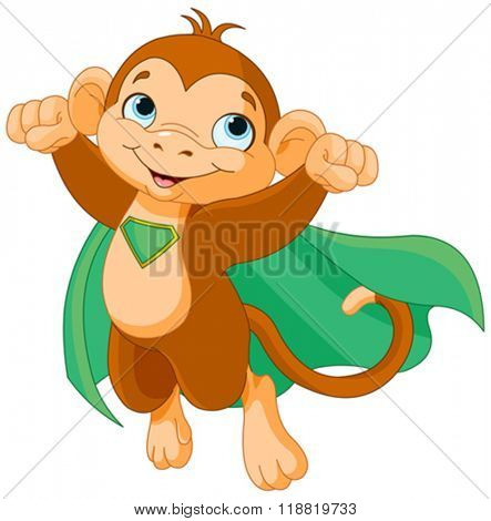 Illustration of Super Hero Monkey