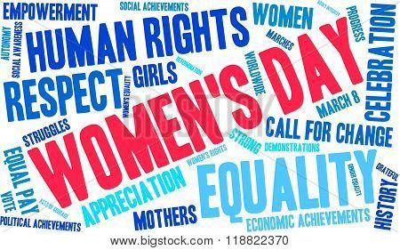 Women's Day Word Cloud