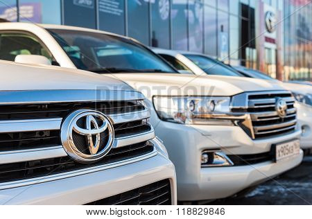 Vehicles Toyota Near The Office Of Official Dealer