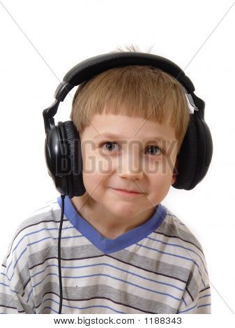 Happy Boy In  Headphones