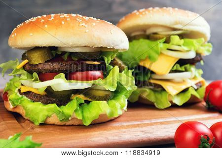 Two Big Cheeseburger Deluxe