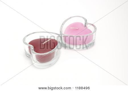 Two Heart-Shaped Candles