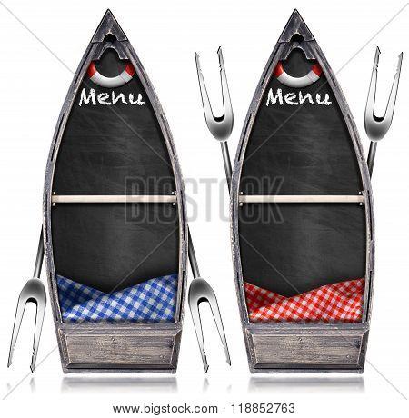 Seafood Menu - Blackboard In The Rowboat