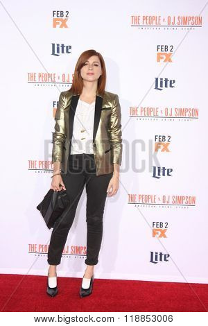 LOS ANGELES - JAN 27:  Aya Cash at the American Crime Story - The People V. O.J. Simpson Premiere at the Village Theater on January 27, 2016 in Westwood, CA