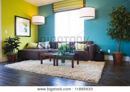 Modern casual living room poster