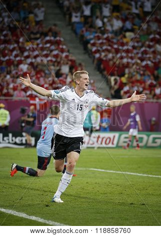Lars Bender Of Germany Reacts After Scored A Goal