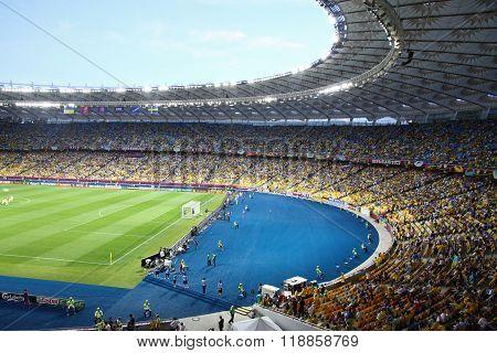 Panoramic View Of Stadium In Kyiv