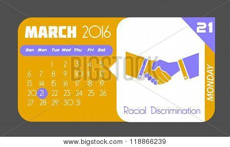 21 March Racial Discrimination